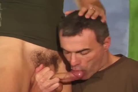Two soldiers with large jock