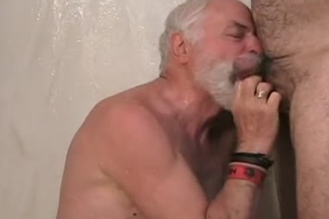 Two old dudes getting off