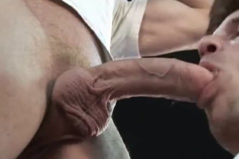 daddy's tongue, fingers and biggest ramrod in JEANS anal