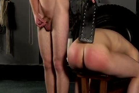 Requested fastened Down For Whipping And bunch-sex