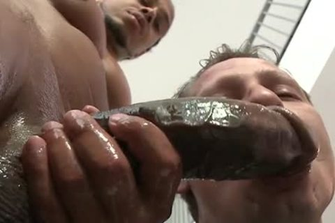 big darksome penis Lubed And Ready To Stretch arsehole