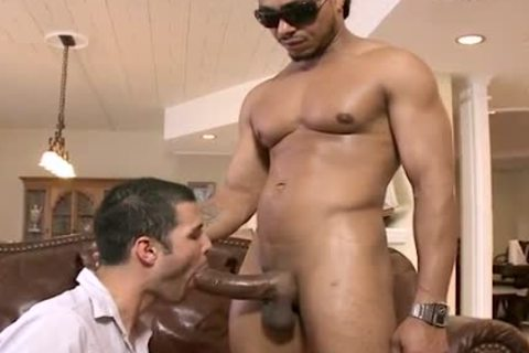 black HUNK TEARS WHITE guy A recent arsehole WITH HIS biggest PACKAGE