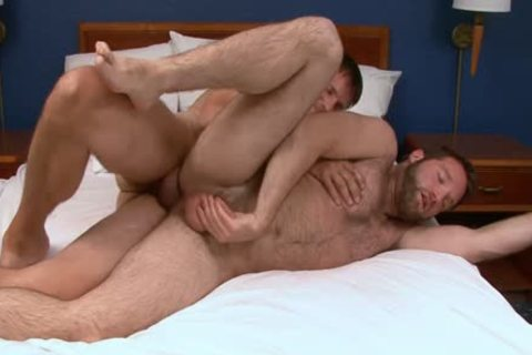 Barebacking shaggy lad With Creampie