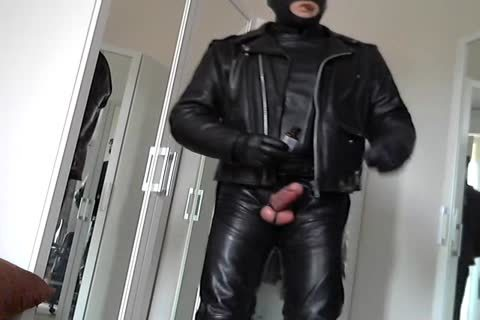 Leather Biker Rubber Poppers Masked And Plug ass Smoke Cigare