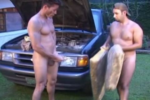 Oiled And messy homosexual boyz nail Outside