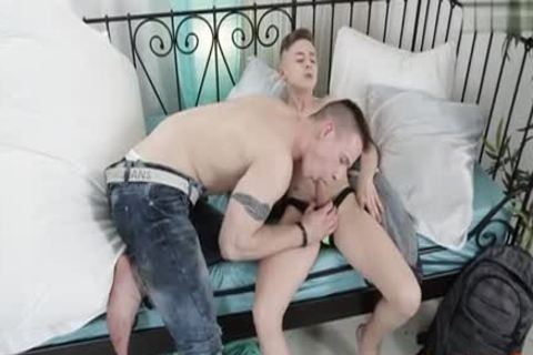 young Son superlatively admirable blow job-service-stimulation