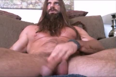 lengthy Bearded Muscle twink Solo #1