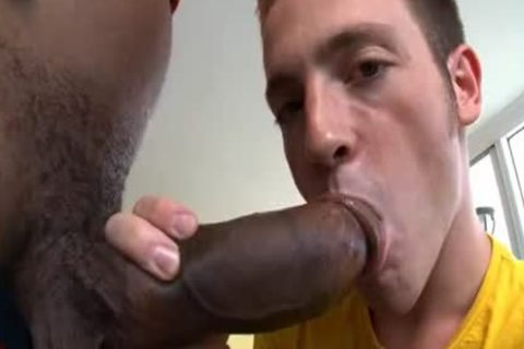 lad poked by big dark cock