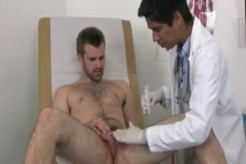Businessman Examined By homo Male Doctor one time hi