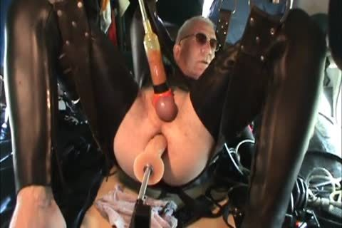 Rubber dudes Geared Machine banged