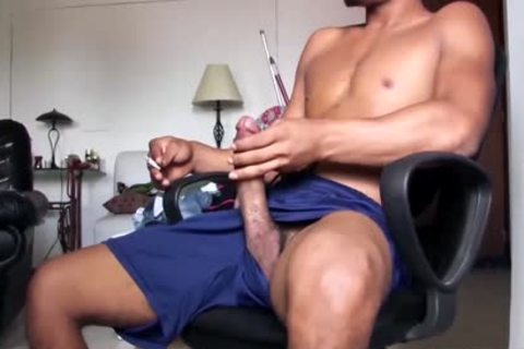 large Dicked handsome Latino boyfrend Is Working His big Load
