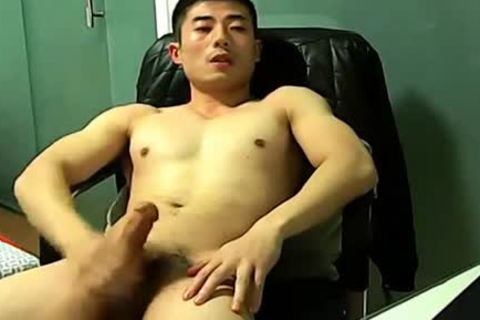 Chinese jerking off On cam