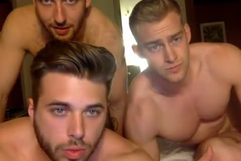 three Muscle boys Having joy On web camera