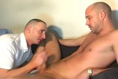 A admirable innocent straight chap Serviced His enormous knob By A chap In Spite Of Him!