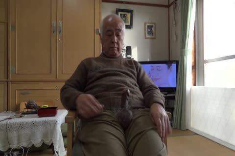 older man Plays With His dick