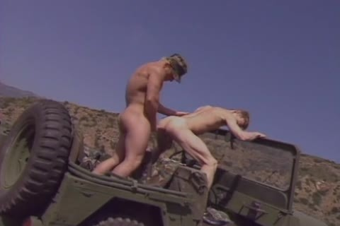 There hardcore Militar homosexual Sir Pull Over The Jeep To fetch out Of Each Others assholes