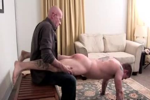 Muscle amateur spanking With sperm flow