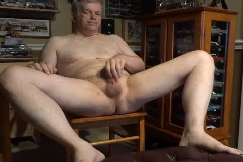 undressed 60 Year old Daddy Masturbating