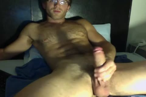 yummy man In Glasses Jerks His large schlong