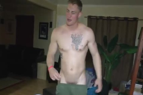 horny Straight Marine At in nature's garb Party