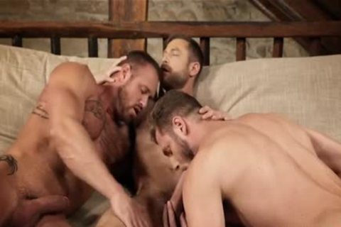 brawny 3some bareback And Creampie