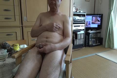 The Elderly ejaculate With in nature's garb Masturbation And drink ball cream