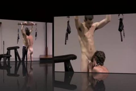 bondage twinks Play In Dungeon Whipping irrumation homosexual bdsm