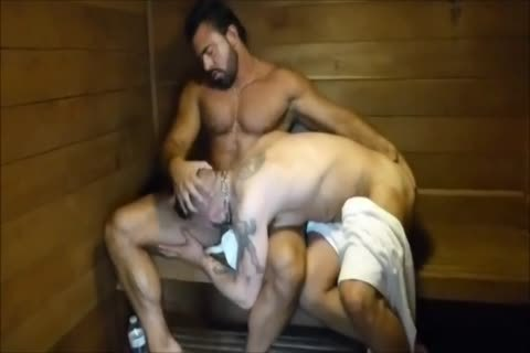 MM Two hairy Muscle Hunks nail raw At The Gym