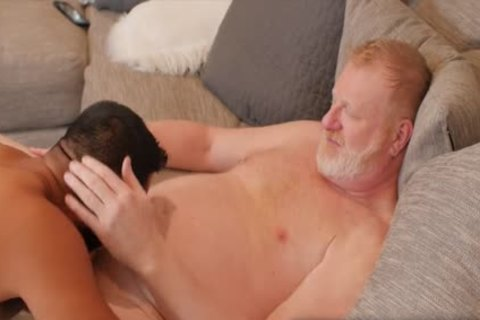 Ginger Daddy hammers hairy guy