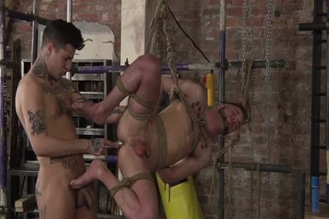 young homosexual Koby Lewis fastened And fucked Hard By Mickey Taylor
