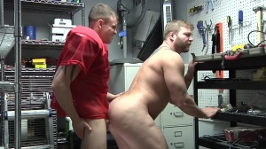 Janitor's Closet - Colby Jansen and Darin Silvers butthole Hook up