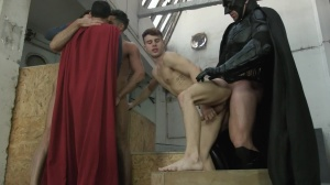 Batman V Superman : A gay XXX Parody - Trenton Ducati & Dario Beck butthole poke