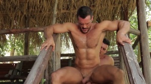 males In Ibiza - Paddy O'Brian and Denis Vega butthole dril