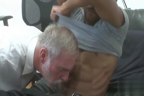 handsome Silver Daddy banged By black young Muscle