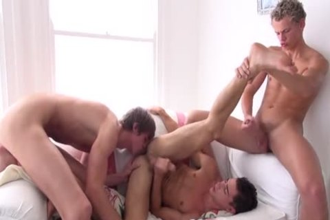 A Little (but Ripped) boy Take Two humongous rods Of Tall College guys