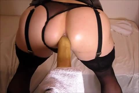 plowing My arse With A dildo while In lingerie