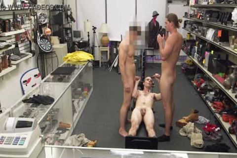 gay PAWN - Fitness Trainer gets butthole nailed By Two Employees