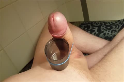 Edging And Filling A Cup With cum