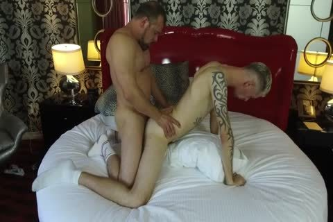 Robert Rexton gets hammered By Muscle Daddies Max Sargent & Chance Caldwell
