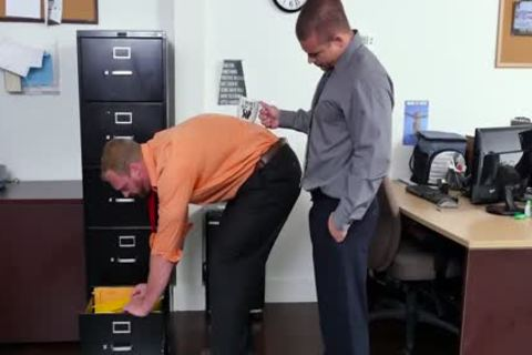 GRAB butthole - new Employee gets Broken In By The Boss, Adam Bryant