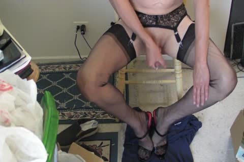 darksome RHT nylons, Heels And cum