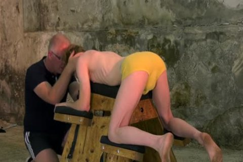 fastened Up Sub With Mouthfold Endures torture By Sebastian Kane