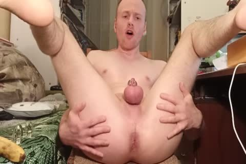 LanaTuls - wazoo pounding And Stretching With Banana And sex dildo