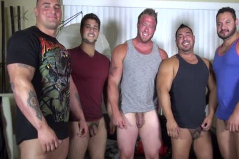 in nature's garb Party @ LATINO Muscle Bear house - non-professional joy W/ Aaron Bruiser
