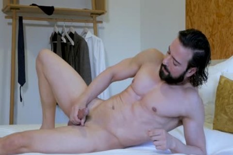 kinky Suited lad jerking off