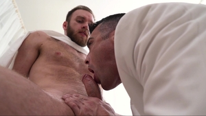 MissionaryBoys: Bishop Gibson fingering sex scene