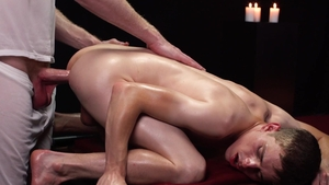 MissionaryBoys.com - Zach Brenton wearing silk moaning