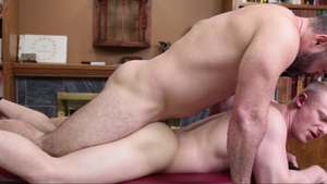 Missionary Boys - Muscled Bishop Angus roleplay in panties