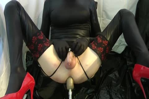 Sissy receives screwed Locked By The Machine