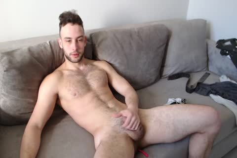 muscular Muscled lad Alex With worthy Body Hair And ejaculation